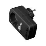 Зарядка USB 220В Ritmix RM-018 MP3 charger, recharger for 2 devices, 100-240V -> 5V/2*1A(1*2.1A), евророзетка