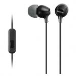 Наушники + микрофон SONY MDR EX 15 AP (black)