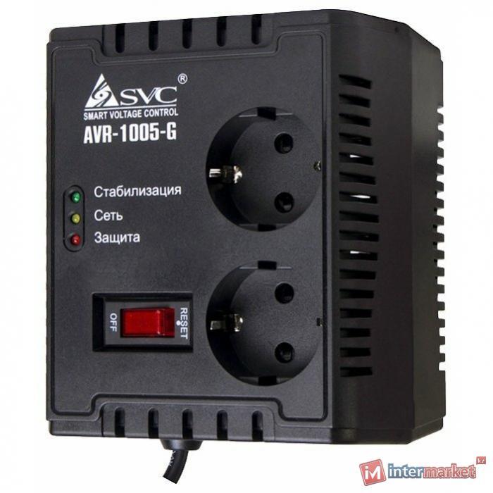 Стабилизатор напряжения однофазный SVC AVR-1005-G